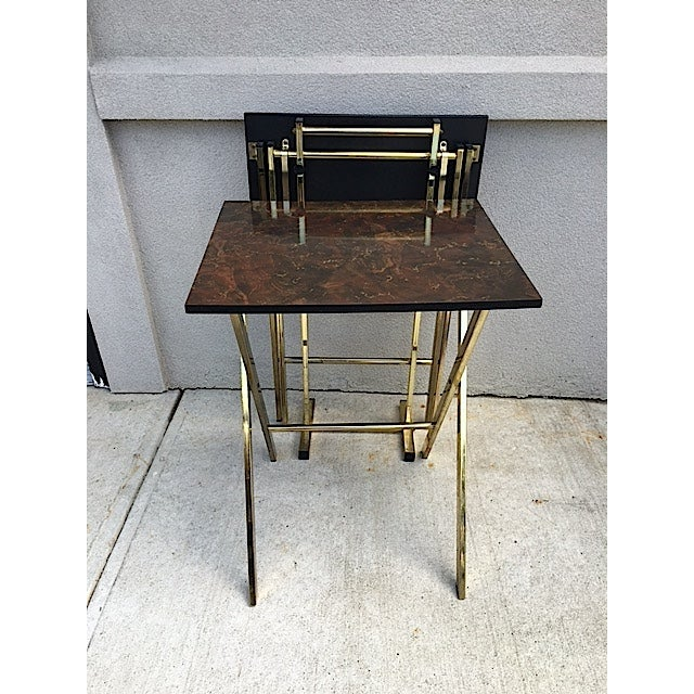 Hollywood Regency Style Tray Tables - Pair - Image 3 of 6