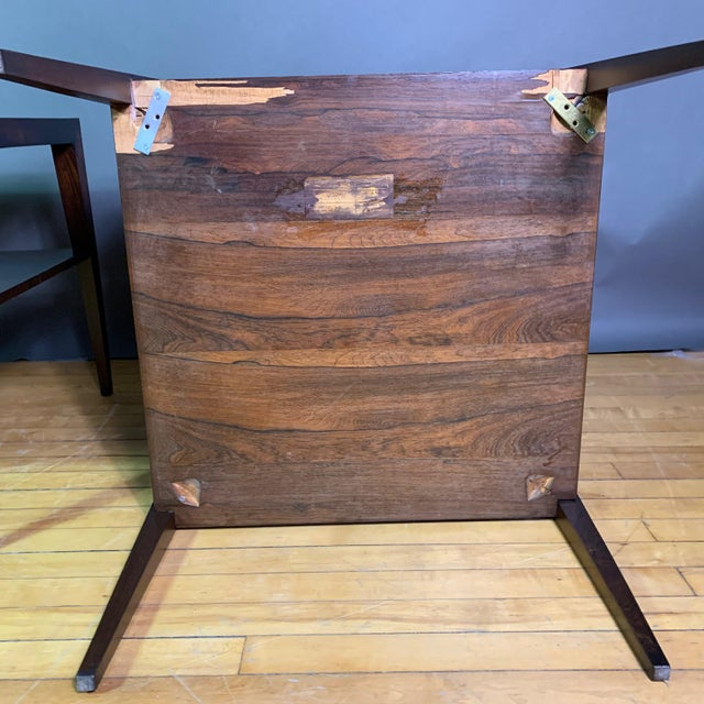Brown Pair Isaac Teperman Brazilian Rosewood Side Tables, 1950s For Sale - Image 8 of 11