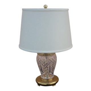 1980s Waterford Crystal Table Lamp For Sale