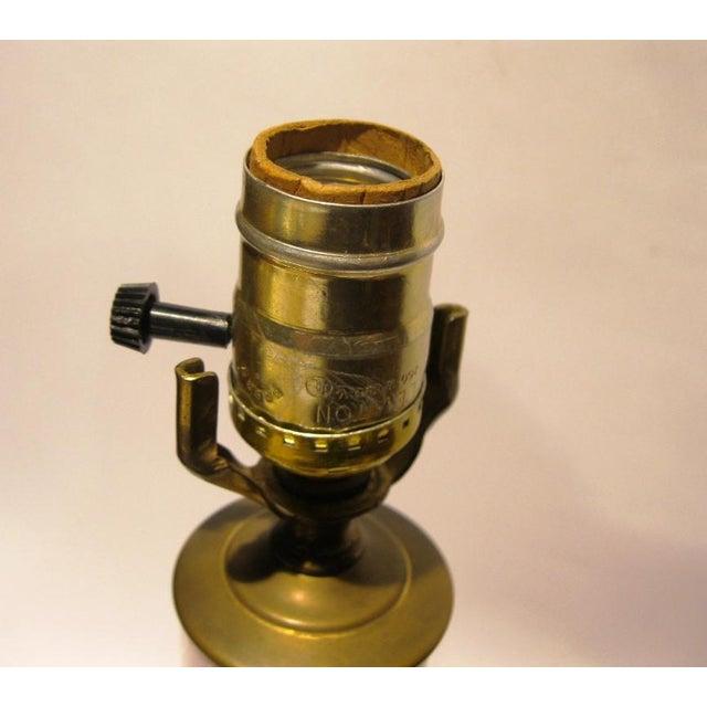Murano, Venini & Co. 1950s Vintage Murano Glass Table Lamp Signed Venini For Sale - Image 4 of 7