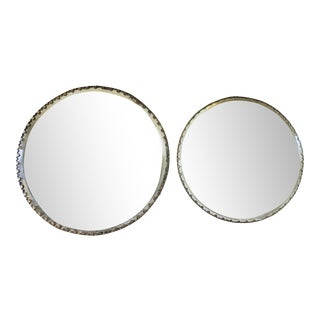 Early 20th Century Vintage Plateau Mirrors - a Pair For Sale