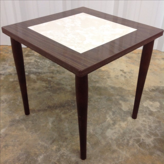 Mid Century Side Tables With Formica Tops - 2 For Sale - Image 5 of 5