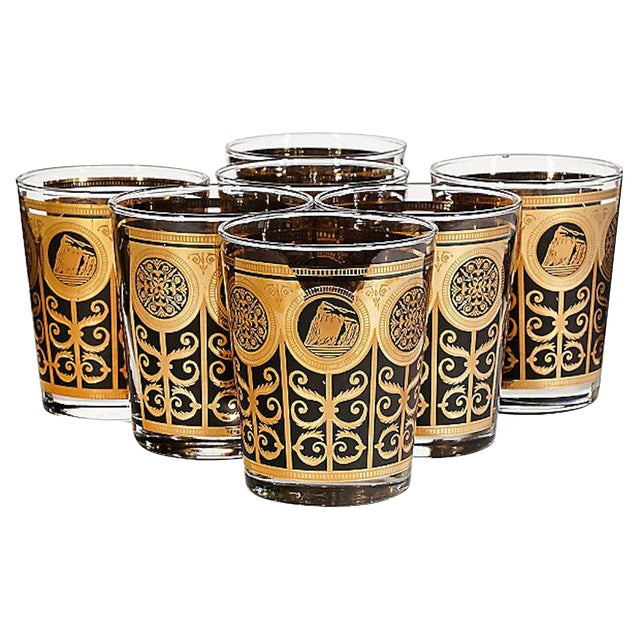 1960s Large Old Fashioned Tumblers, Set of 7 For Sale