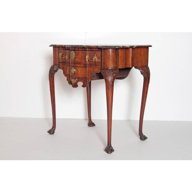 Queen Anne 18th Century Dutch Lowboy For Sale - Image 3 of 13