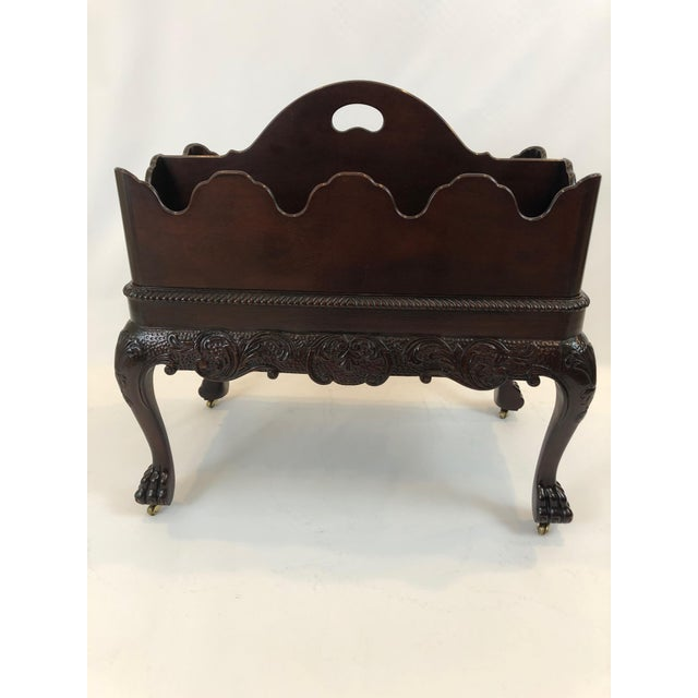 Chippendale Style Canterbury Magazine Rack With Removable Top For Sale - Image 10 of 12