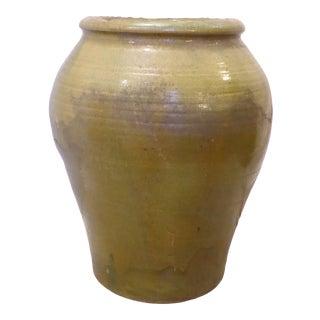Vintage Large Glazed Green Spanish Urn For Sale
