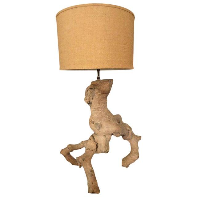 1960s Vintage Driftwood Lamp For Sale