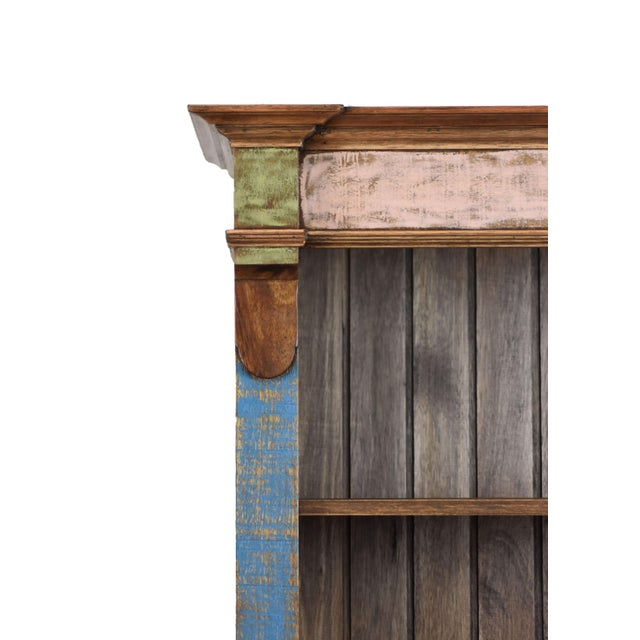 Reclaimed Wood Bookcase For Sale - Image 4 of 6