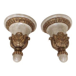 Antique Italian Wall Brackets - A Pair For Sale