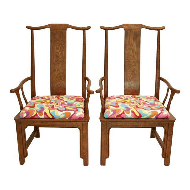 Asian Folding Bamboo Table & Chinoiserie Chairs - Set of 3 For Sale - Image 3 of 11