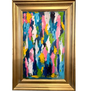 """""""Blow Me Away"""" Contemporary Abstract Expressionist Painting by Ebony Boyd, Framed For Sale"""