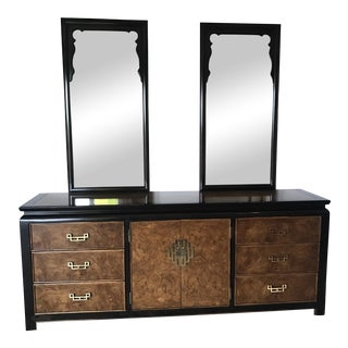 Century Furniture Dresser With Double Mirrors For Sale