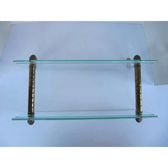 Brass Vintage Glass and Brass Shelf For Sale - Image 7 of 8