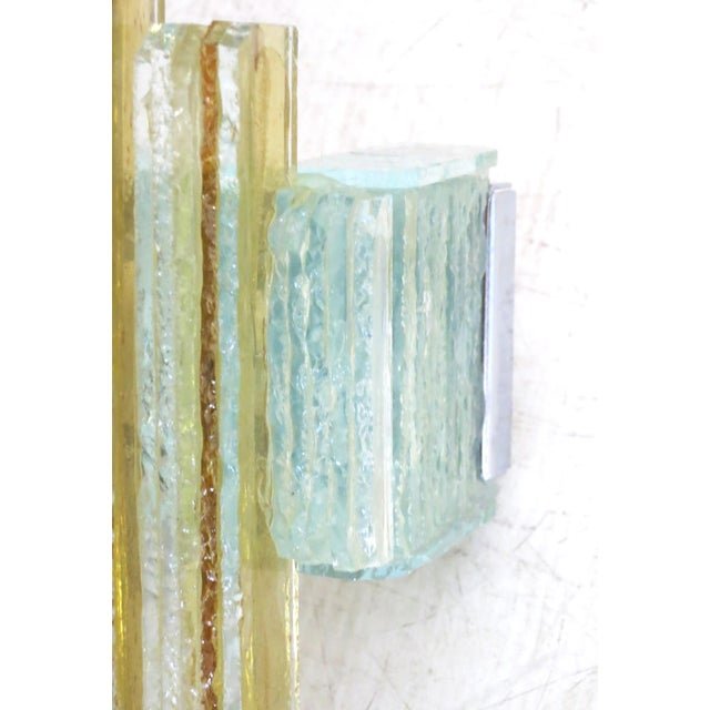 1960s Murano Glass Icicles Stacked Sconces by Poliarte - a Pair For Sale - Image 5 of 9