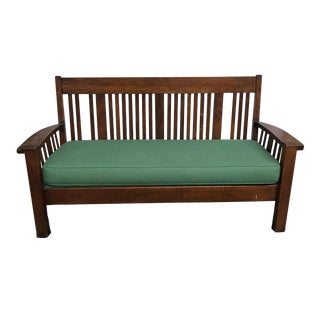 Mission Style Oak Sofa