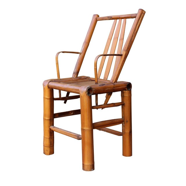 Chinese Zen Style Bamboo Reclining Arm Chair - Image 4 of 6