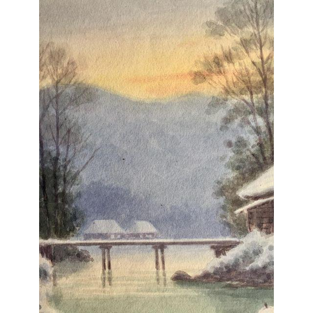 Japanese Landscape Watercolor Painting - Image 6 of 9
