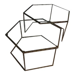 Contemporary Nesting Cocktail Tables - A Pair