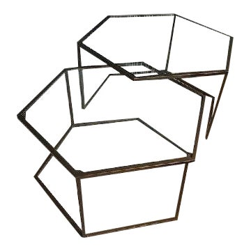 Contemporary Nesting Cocktail Tables - A Pair For Sale