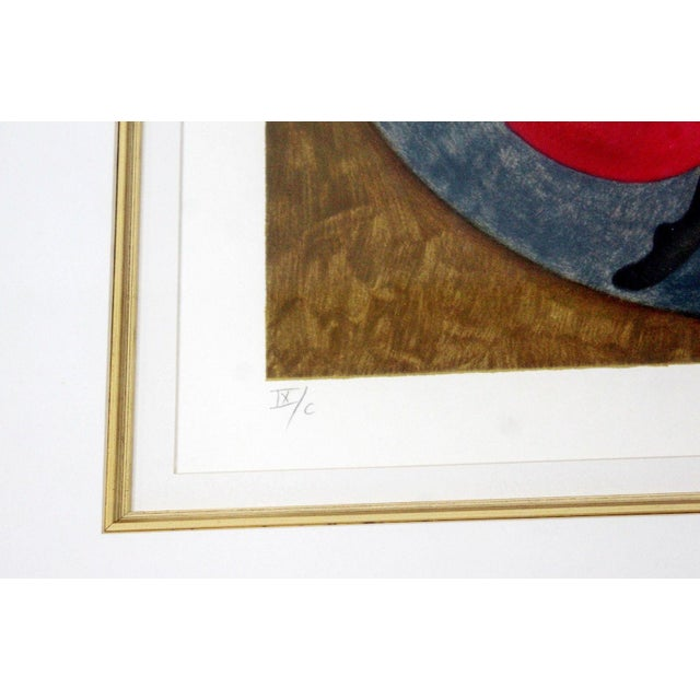 Mid-Century Modern Mid-Century Modern Gold Framed Lithograph Signed by Graciela Boulanger For Sale - Image 3 of 7