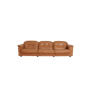 De Sede Leather Ds 101 Three Seat Sofa For Sale