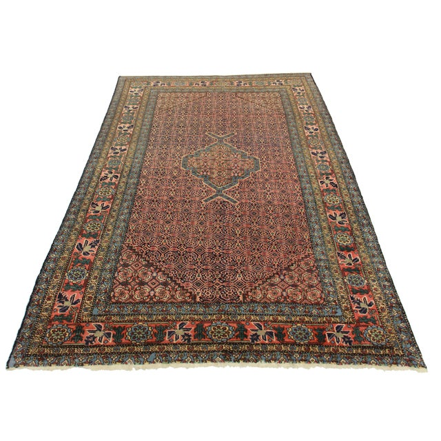 """RugsinDallas Vintage Hand Knotted Rug - 5'4"""" X 7'2"""" - Image 2 of 2"""