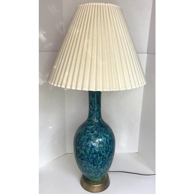 Mid-Century Glazed Lamp - Image 4 of 4