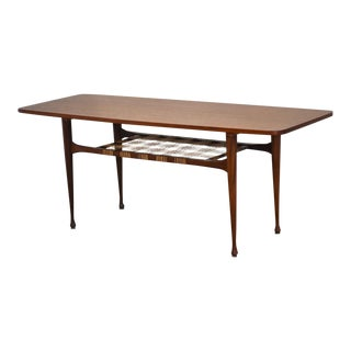 1960s Danish Modern Style Teak Coffee Table For Sale