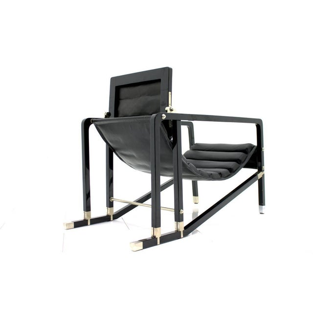 Mid-Century Modern Eileen Gray Transat Lounge Chair by Ecart International, 1980s For Sale - Image 3 of 10