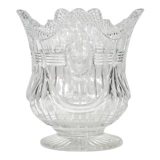 Webb 19th C.Hand Blown Wheel-Cut Crystal Wine Cooler For Sale