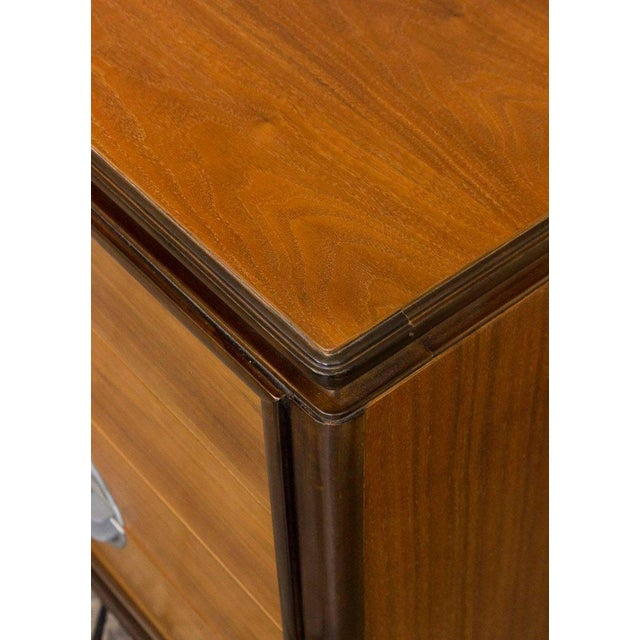 """American Midcentury """"Chinese-Modern"""" Low Chest of Drawers - Image 3 of 11"""