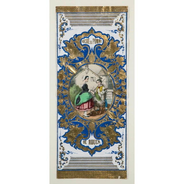 """French Antique Advertising or Display Banners """"Sucre De Pomme,"""" France, Circa 1880 For Sale - Image 3 of 5"""