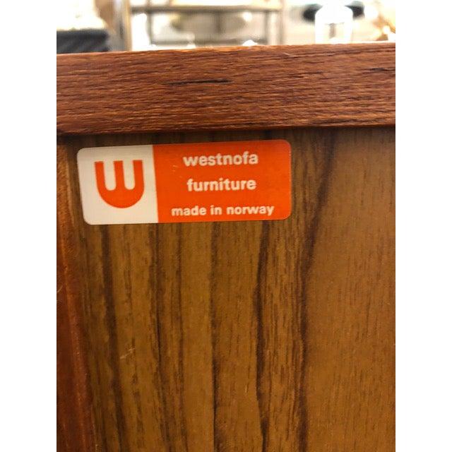 1960's Westnofa Teak Three Drawer Cabinet For Sale In Chicago - Image 6 of 7