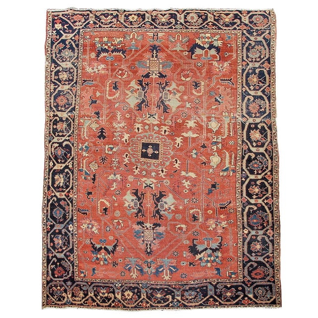 Islamic Serapi Persian Carpet - 8′1″ × 12′2″ For Sale - Image 3 of 3