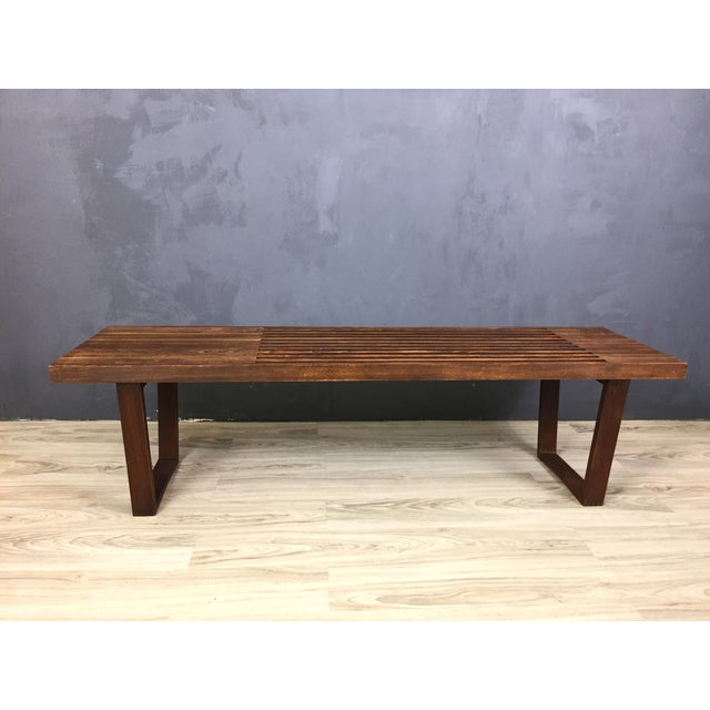 George Nelson Style Mid Century Bench/Coffee Table - Image 6 of 6