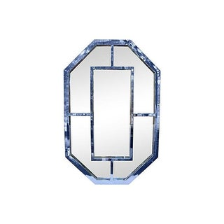 Milo Baughman Octagonal Chrome Mirror For Sale