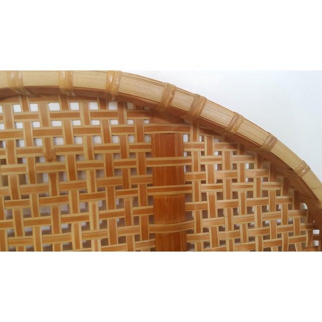 Large Vintage Bamboo Fish Drying Basket - Image 4 of 6