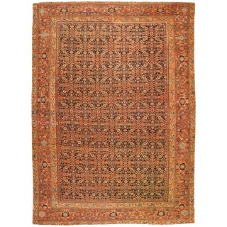 Antique Persian Fereghen Carpet For Sale