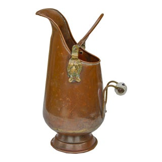 Moroccan Copper Pitcher W/ Lion Handle For Sale