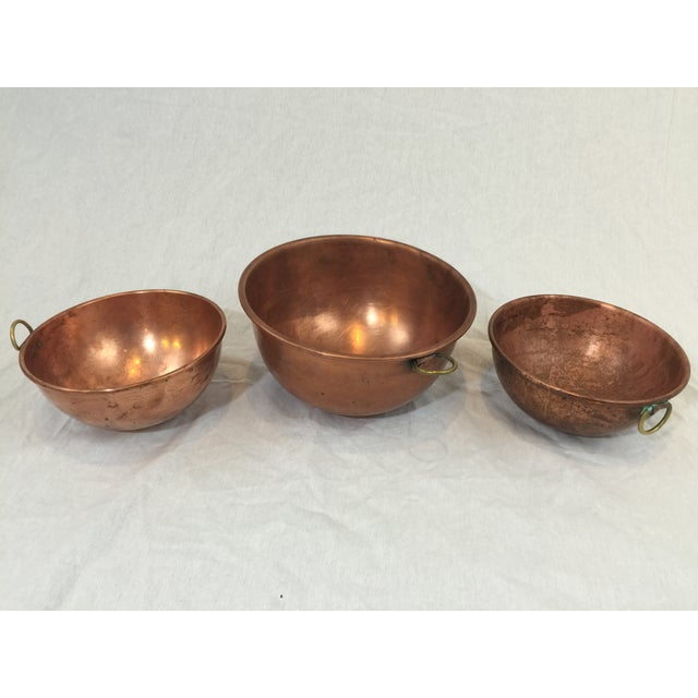 Vintage Copper Baking Bowls - Set of 3 - Image 3 of 6