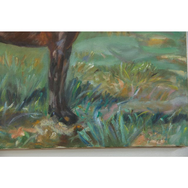 """Grace B. Keogh """"Brown Horse"""" Painting For Sale - Image 4 of 8"""