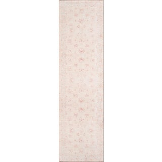"Momeni Afshar Polyester Beige Runner Rug - 2'3"" X 7'6"" For Sale"