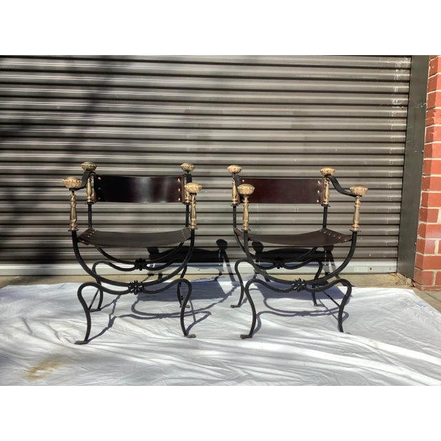 1960s Italian Savaronola Style Chairs, a Pair For Sale - Image 12 of 12
