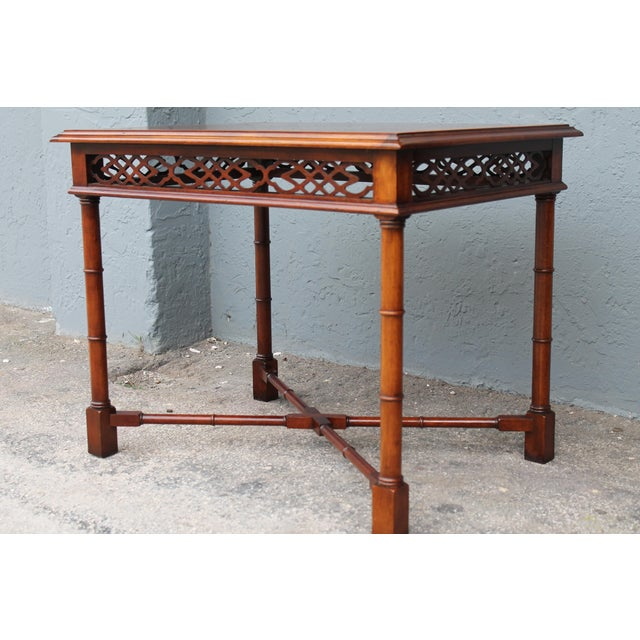 1970's Traditional Carved Wood Side Tables - A Pair - Image 8 of 11
