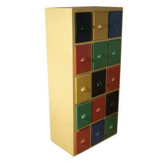 Danish Multicolor Storage Cabinet For Sale