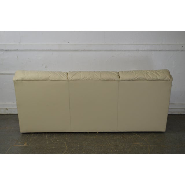 1990s Hancock & Moore Off White Leather Sofa For Sale - Image 5 of 13