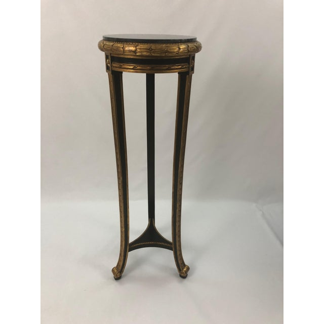 Regency Style Custom Black and Gold Stand For Sale - Image 10 of 10