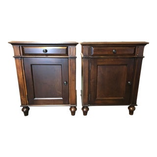 Empire Restoration Hardware Camden Tobacco Night Stands - a Pair