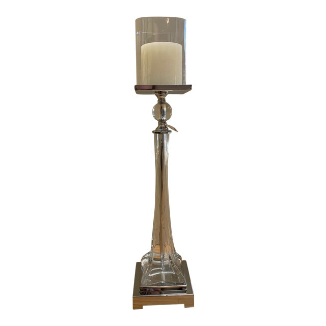 Uttermost Grancona Twisted Glass Candleholder For Sale
