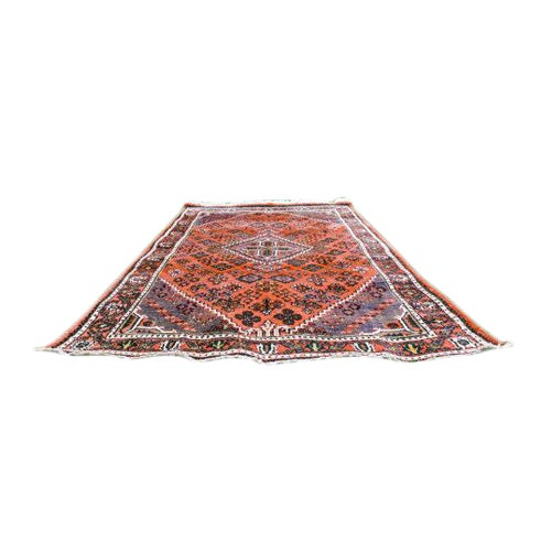 """Persian Bohemian Hand Knotted Rug - 4'3"""" x 6'9"""" - Image 1 of 6"""